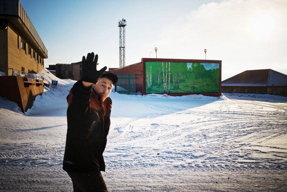 Barentsburg Spitsbergen Winter