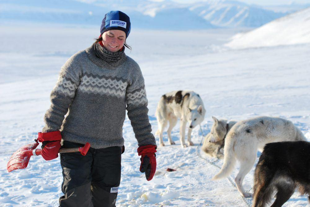 Dog sledding on Spitsbergen