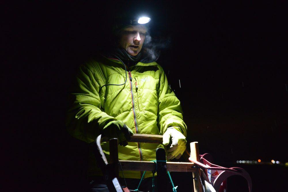 Dog Sledding Polar Night Spitsbergen