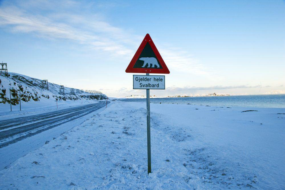 Svalbard Longyearbyen Vinter