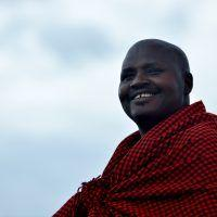 Portrait photo of Maasai man.