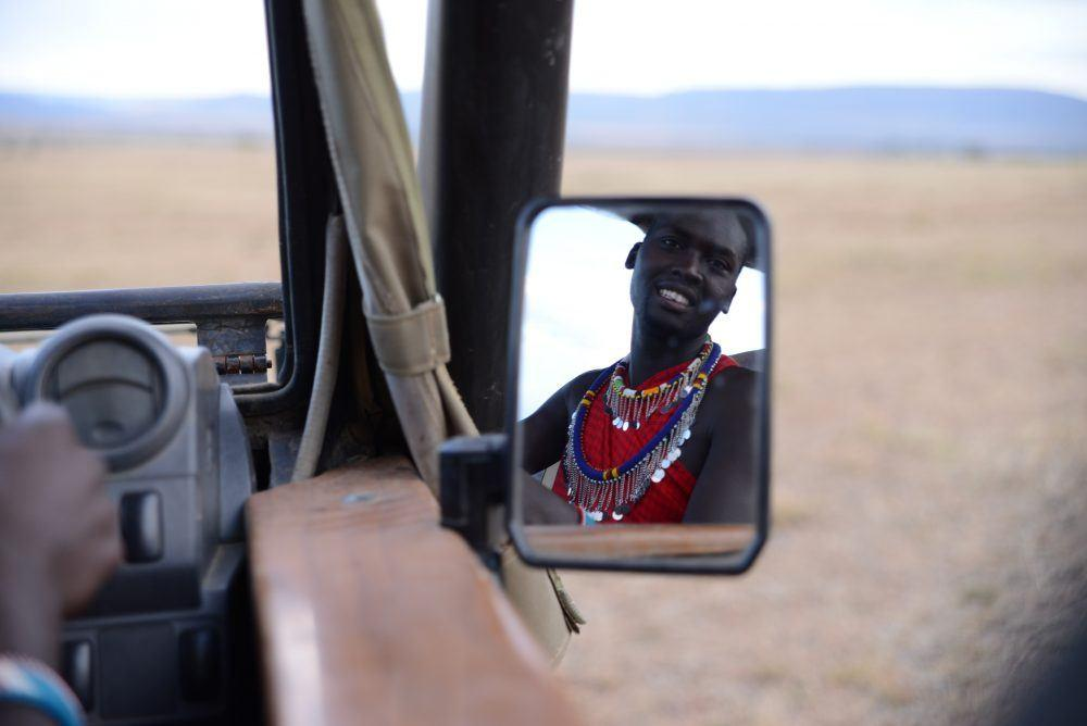 on a Game Drive at Masai Mara Kenya