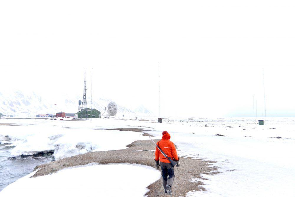 Isfjord Radio outside winter