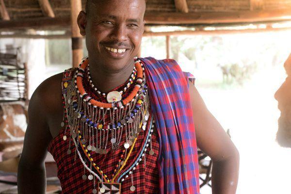 Portrait photo of Maasai man.
