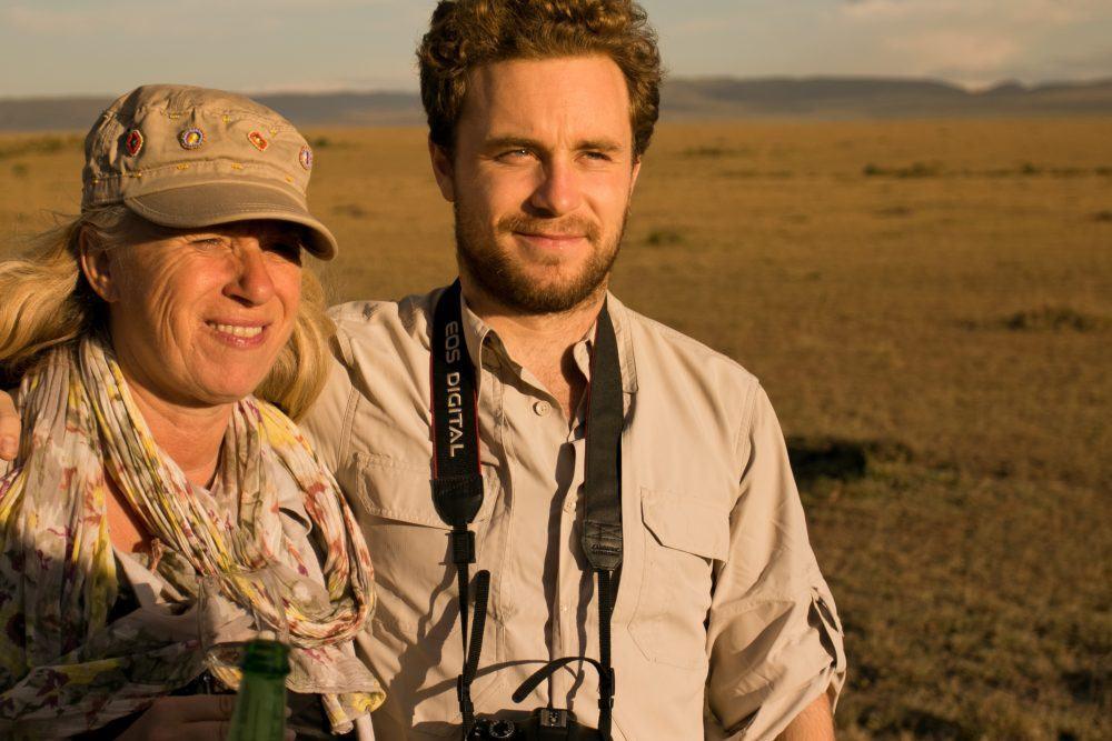 on a Game Drive at Masai Mara Kenya