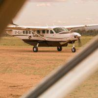 View of shuttle aircraft in Kenya.