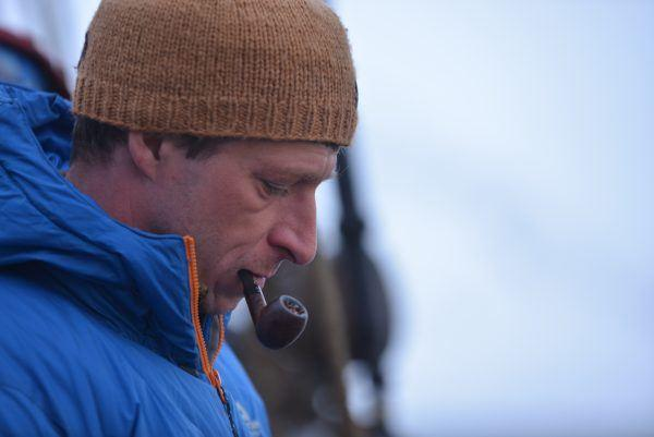 Man with pipe in Spitsbergen.