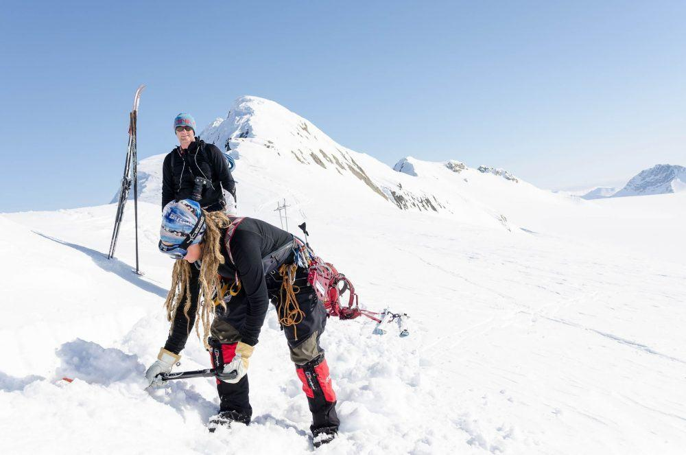 Skiing High Camp Spitsbergen