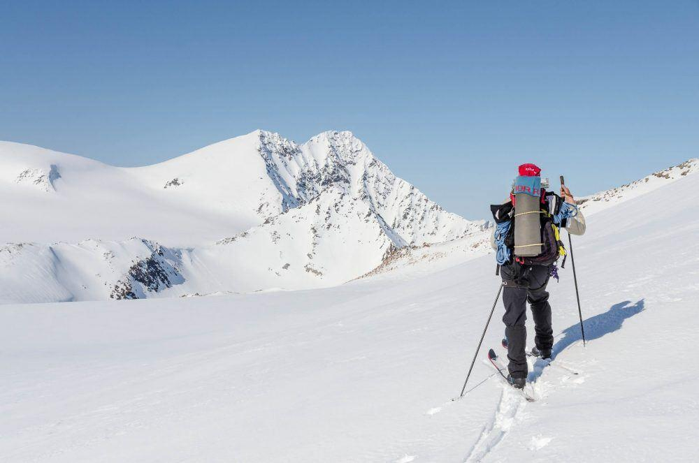 Skiing High Camp Spitsbergen