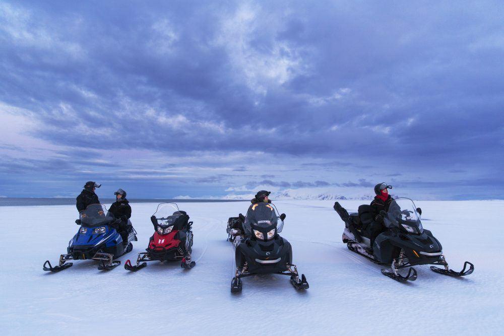 Snowmobiling Polar Night Spitsbergen