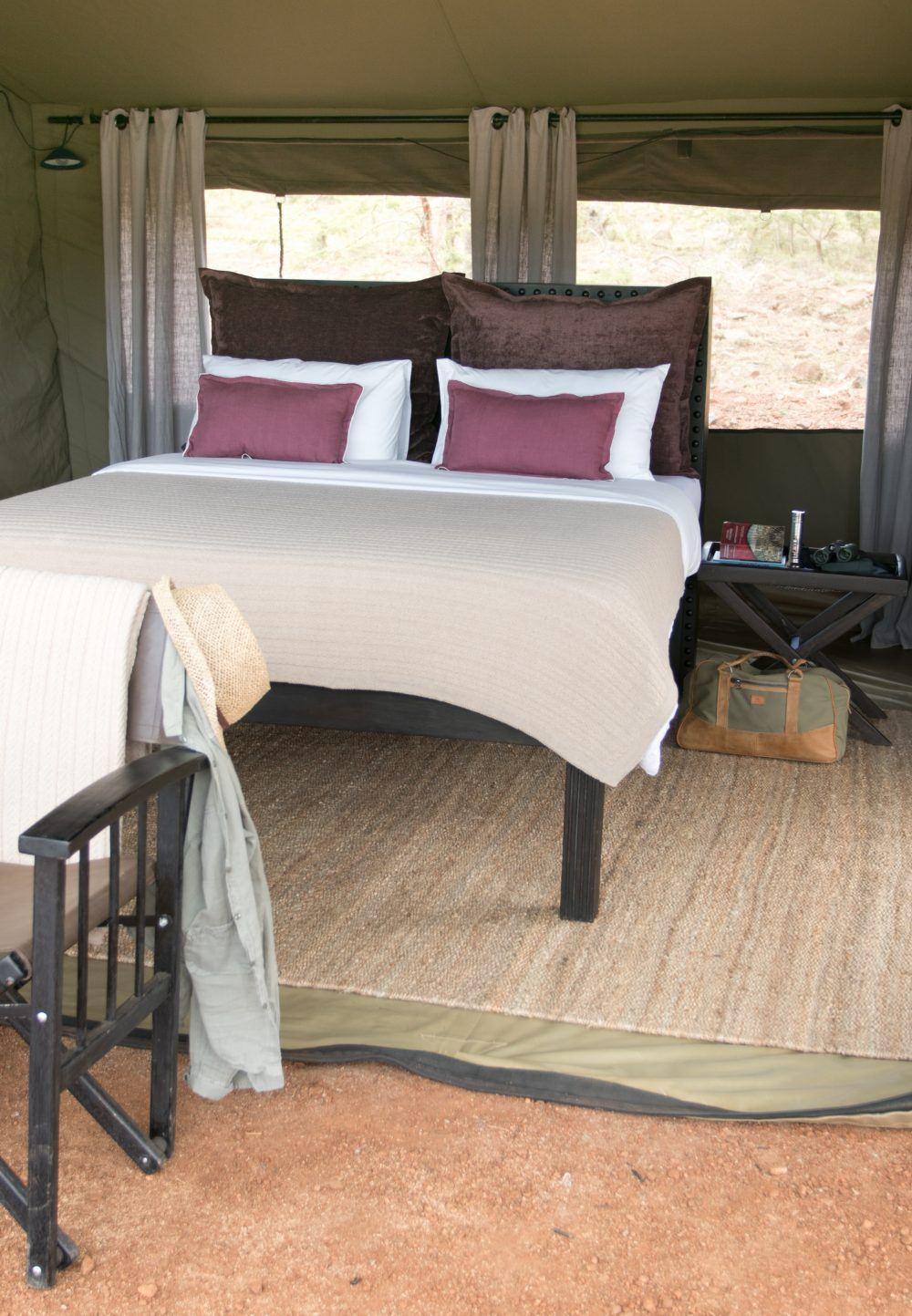 Dobbeltelt på Wilderness Camp Mara Naboisho Kenya