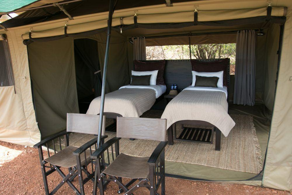 Double tent at Wilderness Camp Mara Naboisho Kenya