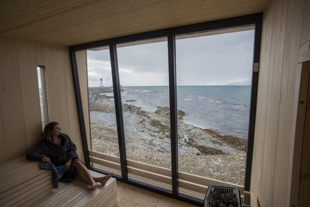 Kokeriet, den Arktiske design badstuen på Isfjord Radio
