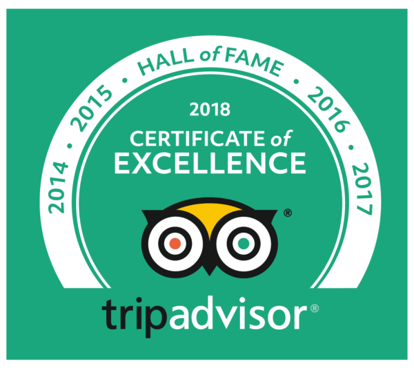 Certificate Of Excellence Hall Of Fame 2018 Basecamp Masai Mara