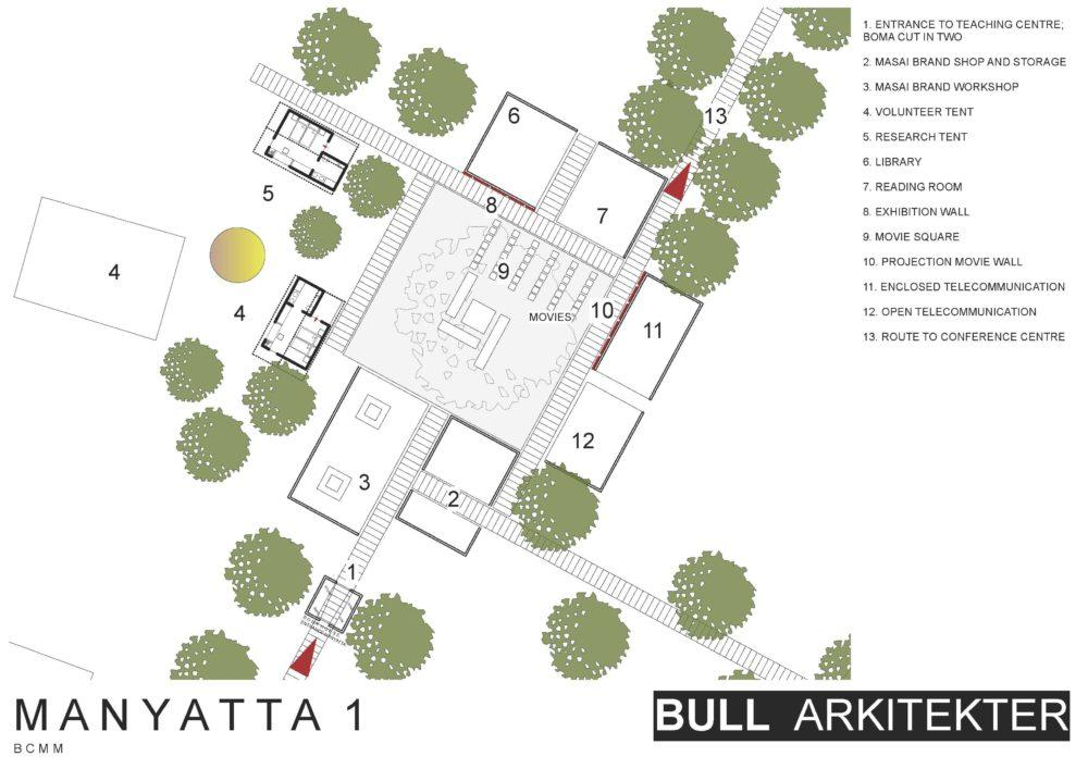 Architectural schematics of Basecamp Explorer Enjoolata Awareness and Training Centre in Masai Mara, Kenya.