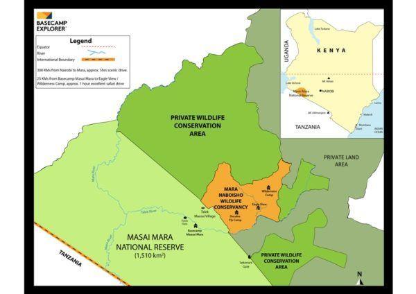 Masai Mara map Serengeti ecosystem